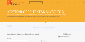 Screenshot-Textanalyse-Tool-content-audit