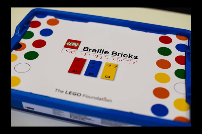 Braille Lego Steine
