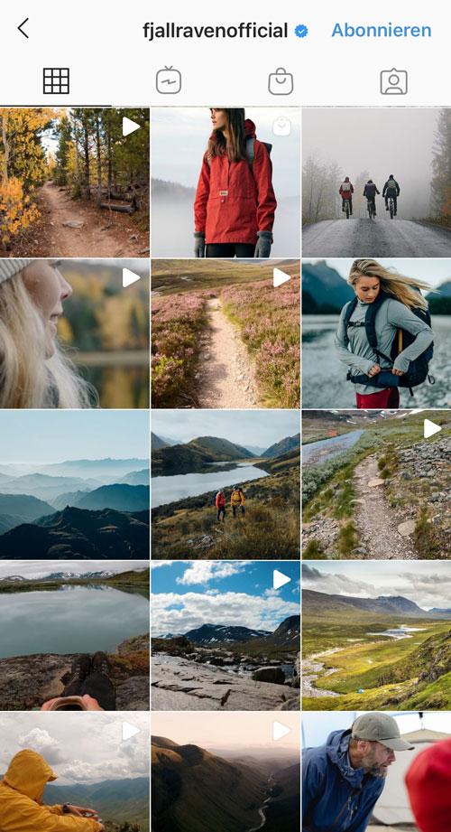 """Fjallraven zeigt mit durchgängiger Landschaftsszenerie den Markenwert der """"Naturverbundenheit"""" immer wieder auf."""
