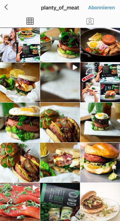Die vegane Burgermanufaktur Planty of Meat setzt seit kurzem auf gut ausgeleuchtete Produktbilder.
