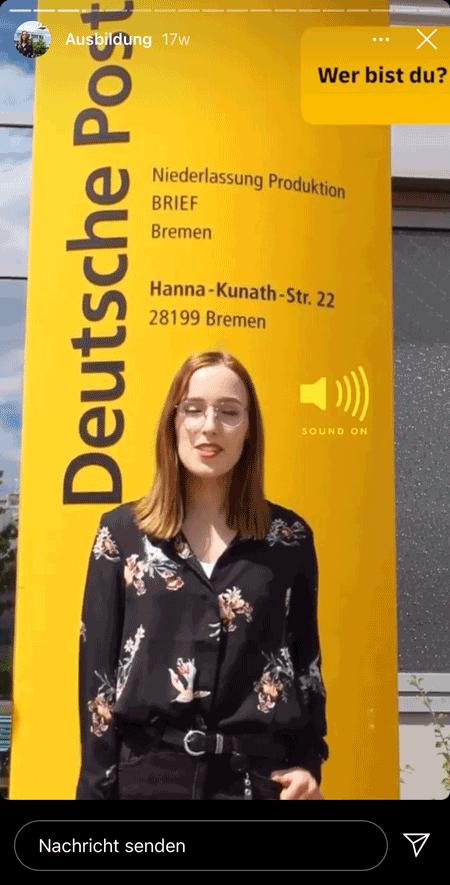 Die Deutsche Post stellt Mitarbeiter*innen und Azubis in Stories vor