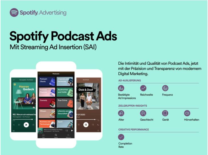 Spotify: Podcast Ads in Deutschland möglich
