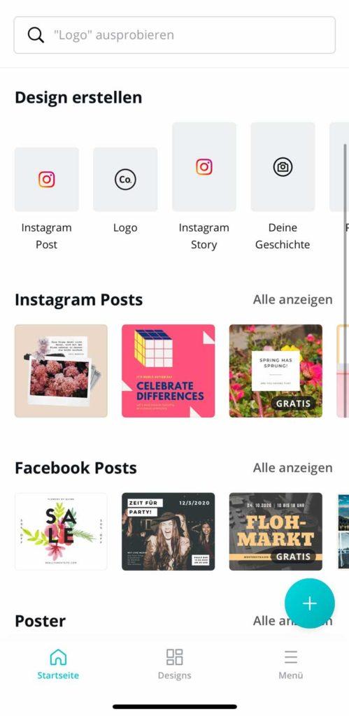 Instagram Apps und Tools: Canva 1
