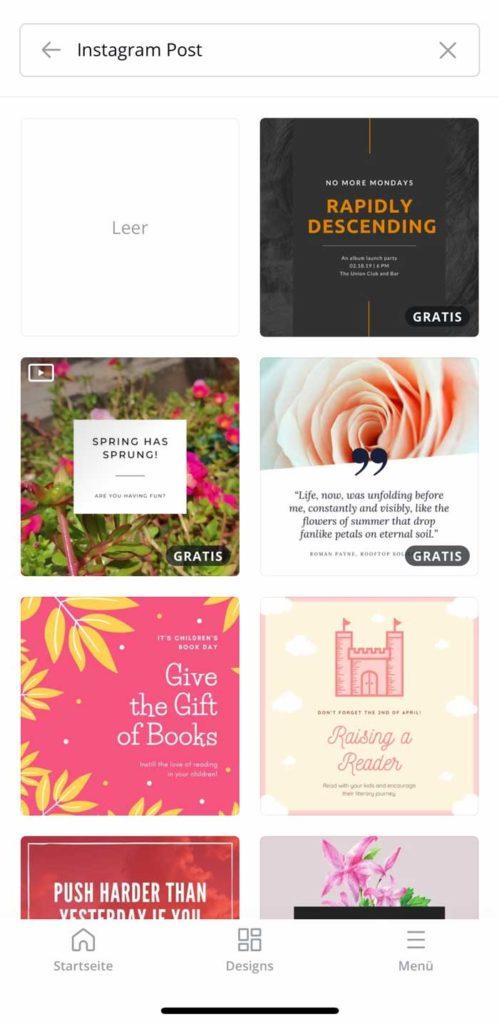 Instagram Apps und Tools: Canva 2