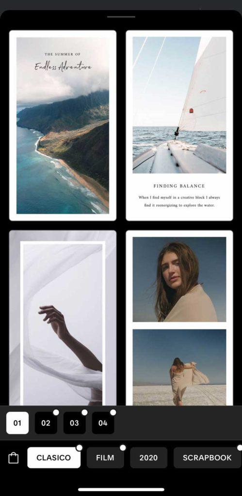 Instagram Apps und Tools: Unfold 1