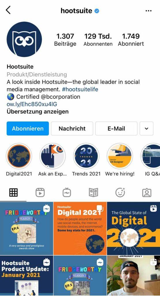 MarTech Marketing: Hootsuite Instagram