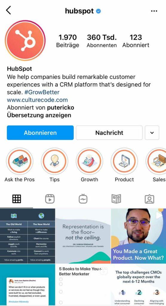 MarTech Marketing: HubSpot Instagram