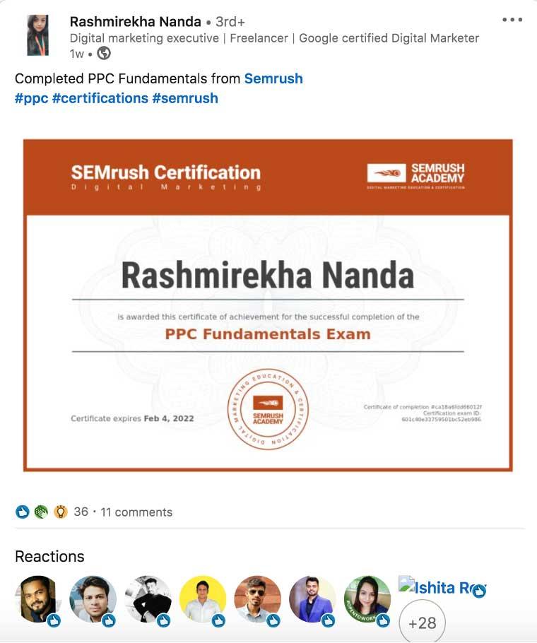 MarTech Marketing: Semrush Academy Zertifikat