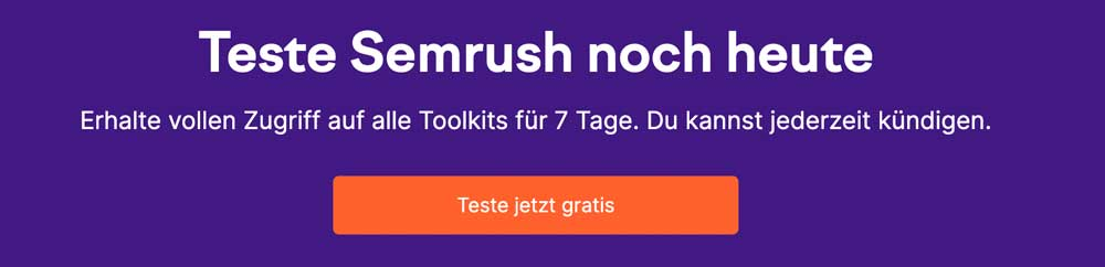 MarTech Marketing: Semrush Test