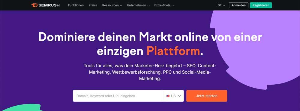 MarTech Marketing: Semrush Website