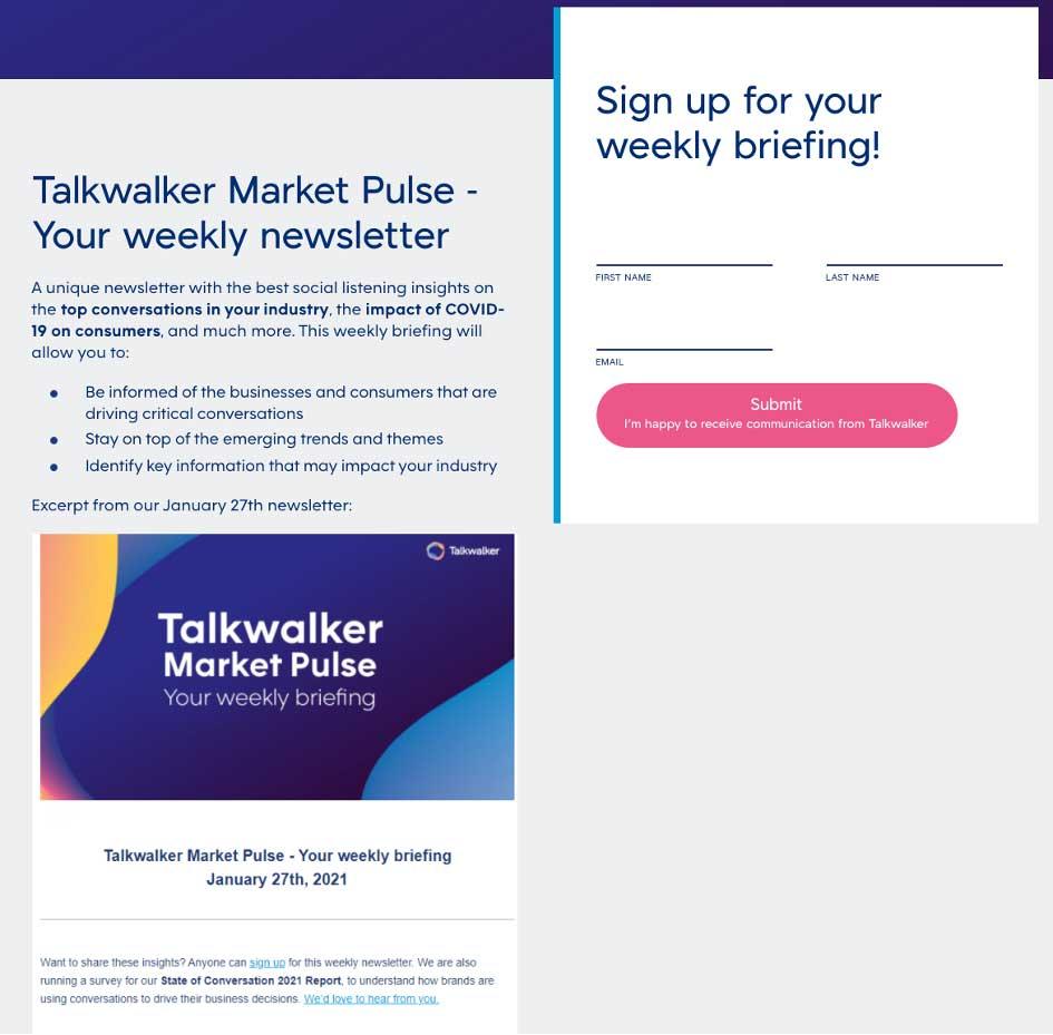 MarTech Marketing: Talkwalker Newsletter