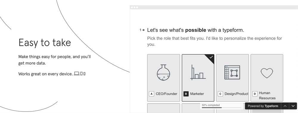 MarTech Marketing: Typeform On-Site-Demo