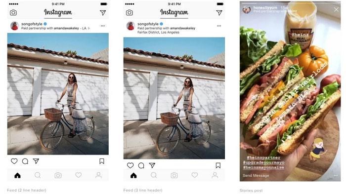 Instagram: Neues Update für Branded Content