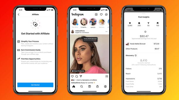 Instagram: Affiliate und neue Shop-Funktionen