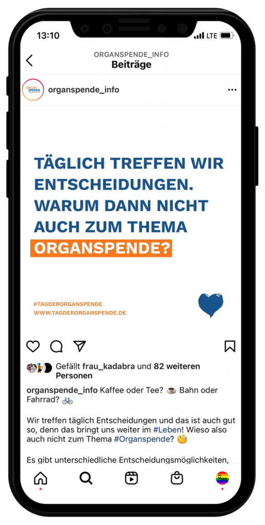 Tag der Organspende: Feed Beitrag 2