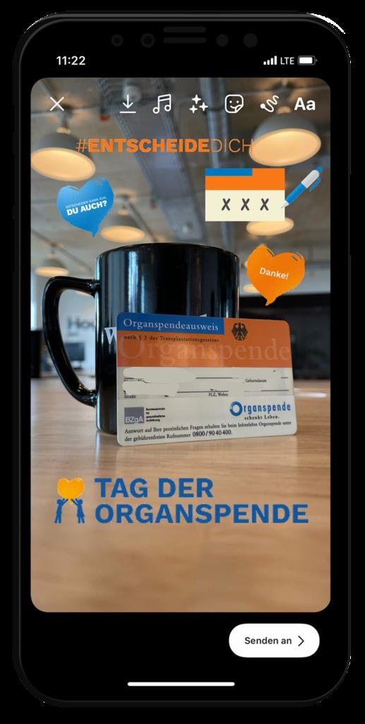 Tag der Organspende: Story Sticker