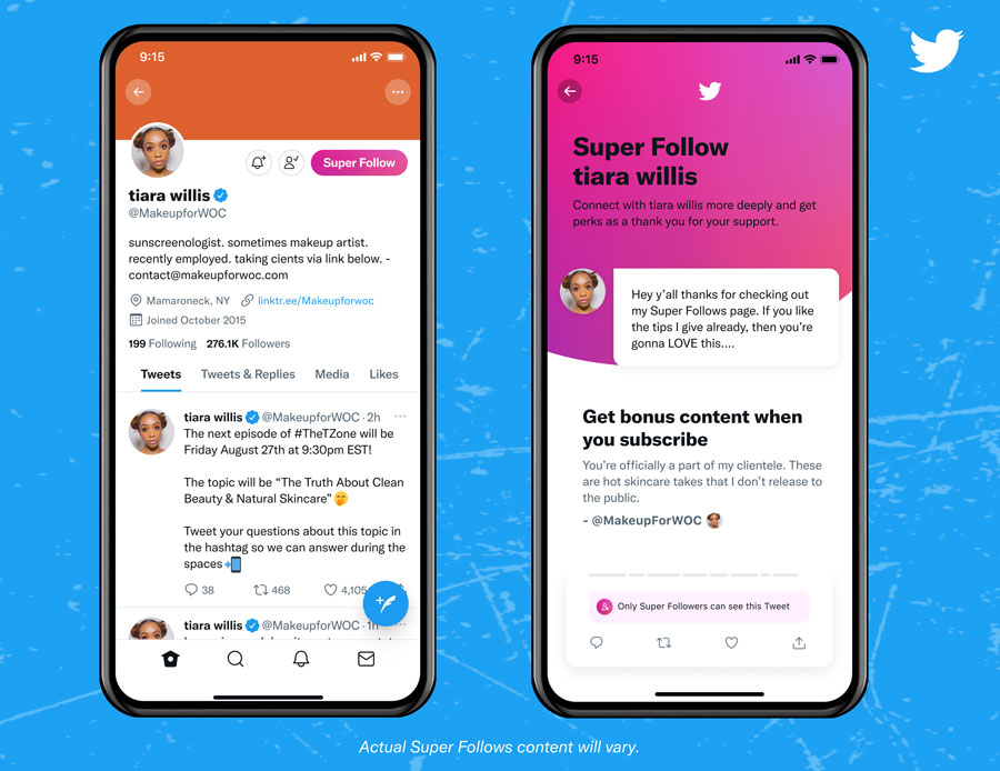 Twitter: Einführung von Super Follows